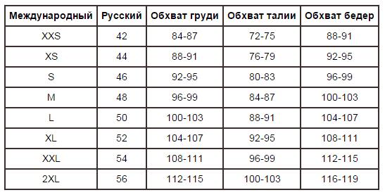 Xl размер одежды женской