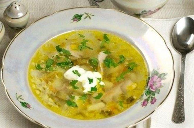 Рассольник с рисом и солеными огурцами рецепт с фото