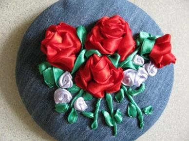 Вышивка лентами розы мастер класс видео уроки