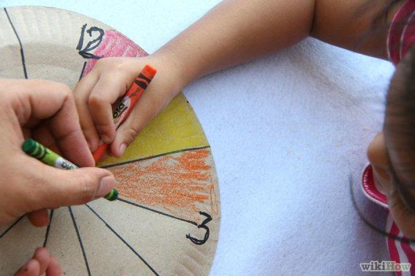 Покажите ребенку, как нарисовать часы