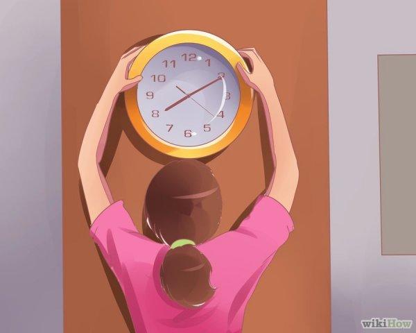 Купите большие часы и повесьте их на видном месте