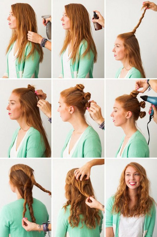 Как быстро сделать легкие волны на волосах?