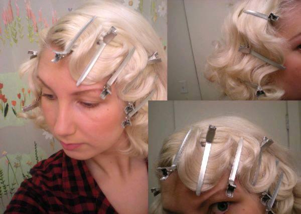 Как сделать ретро волны на волосах?