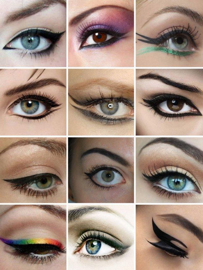 Как рисовать стрелки на глазах правильно фото?