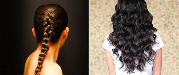 Как сделать волны на волосах при помощи кос?
