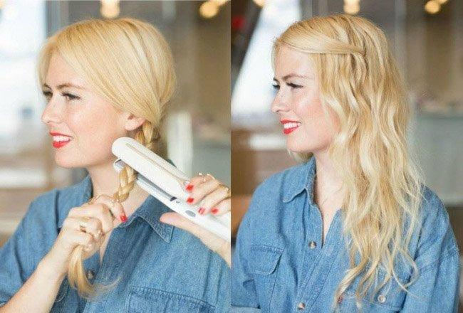 Как сделать легкие волны на волосах?