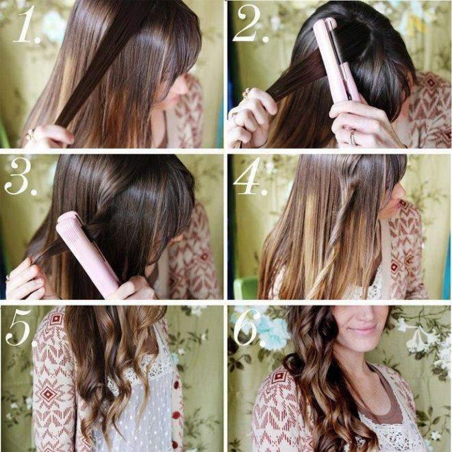 Как утюжком сделать легкие волны на волосах?