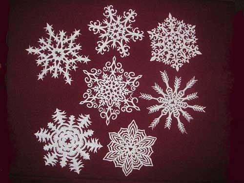 Схема для снежинки из бумаги №2