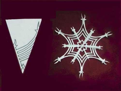 Схема для снежинки из бумаги №9
