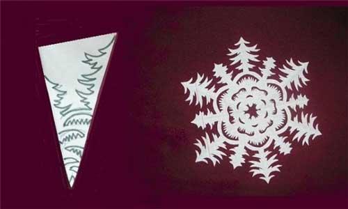 Схема для снежинки из бумаги №7