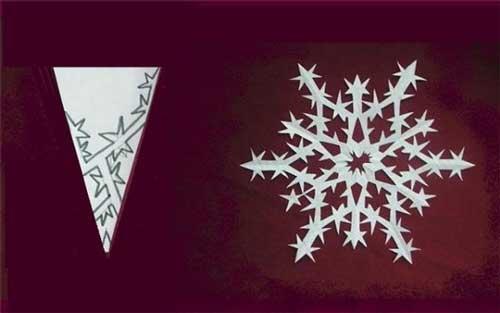 Схема для снежинки из бумаги №8
