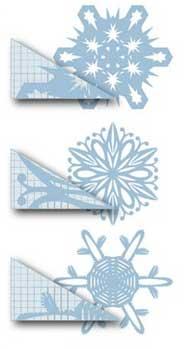 Схема для снежинки из бумаги №12