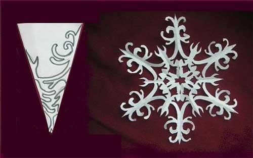 Схема для снежинки из бумаги №5