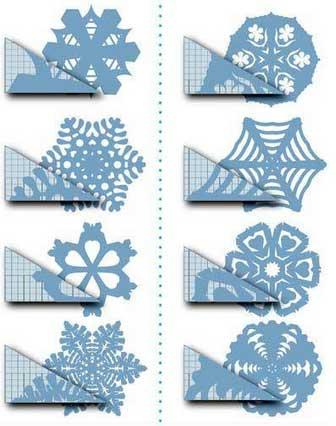 Схема для снежинки из бумаги №11