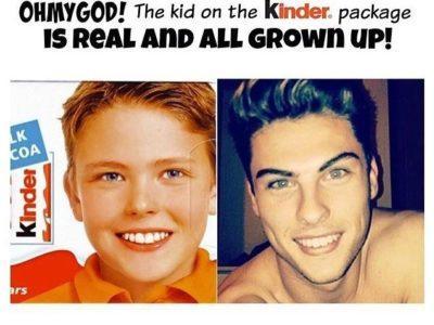 Помните мальчика киндер? Вот как он выглядит 14 лет спустя.